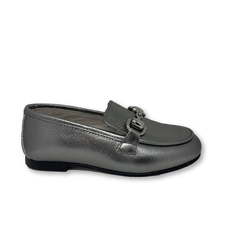 Hoo Pewter Chain Loafer-Tassel Children Shoes