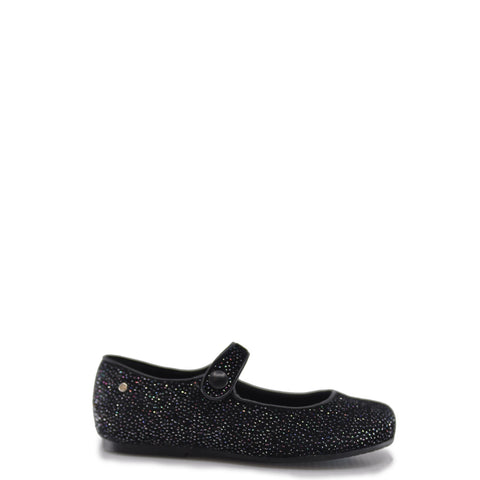 Manuela Black Velvet Sparkle Mary Jane-Tassel Children Shoes