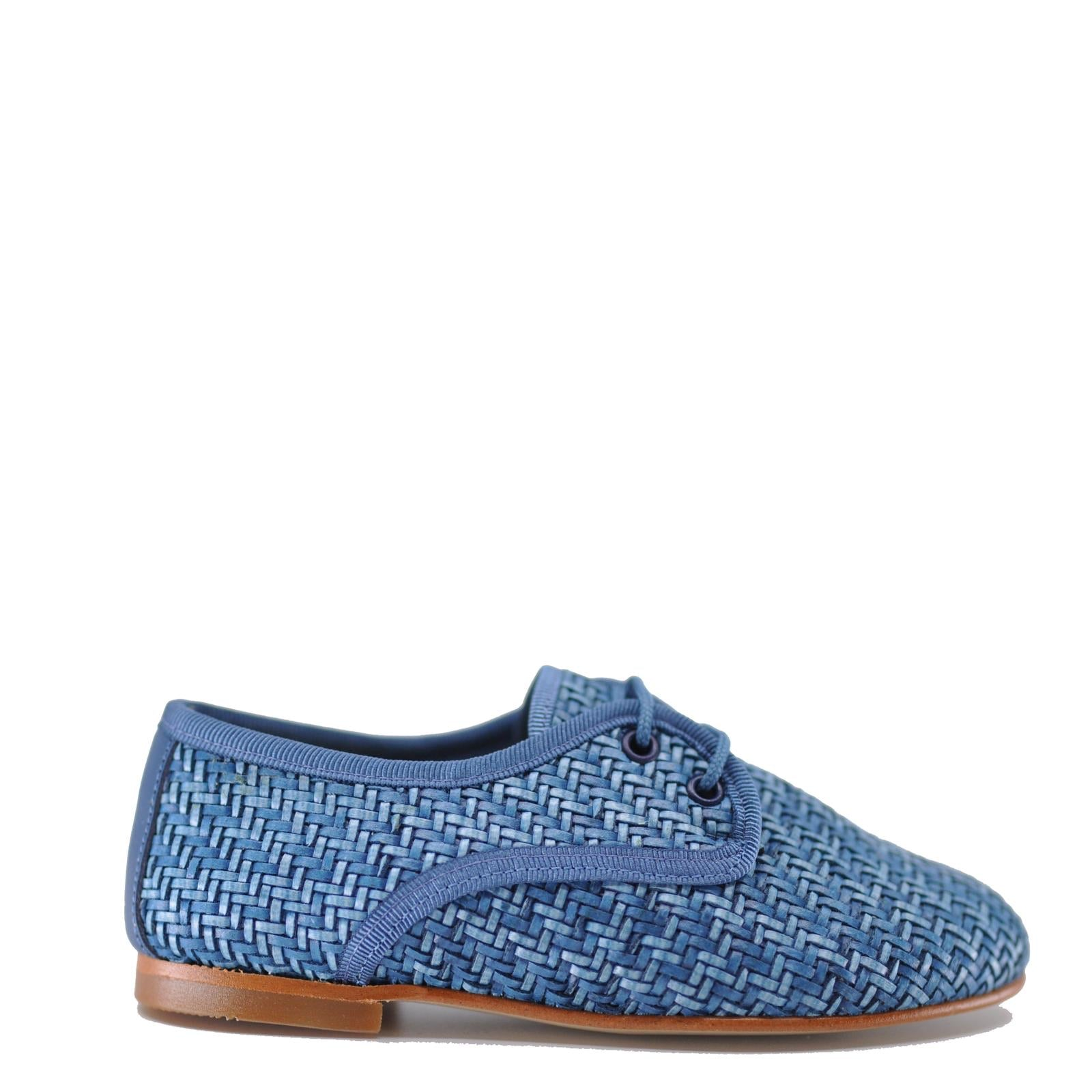 LMDI Ocean Weave Derby-Tassel Children Shoes