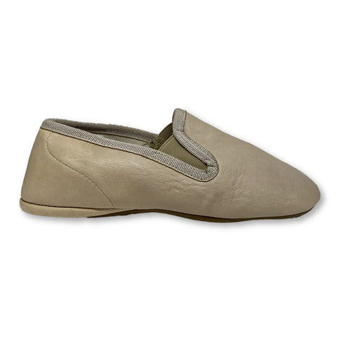 Pepe Taupe Slipper-Tassel Children Shoes