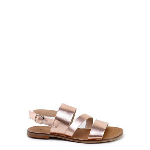 Papanatas Rose Gold Leather Sandal-Tassel Children Shoes