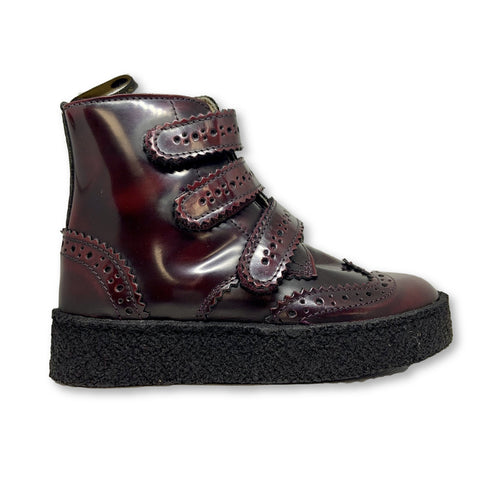 Young Soles Freddie Velcro Brogue Boot-Tassel Children Shoes