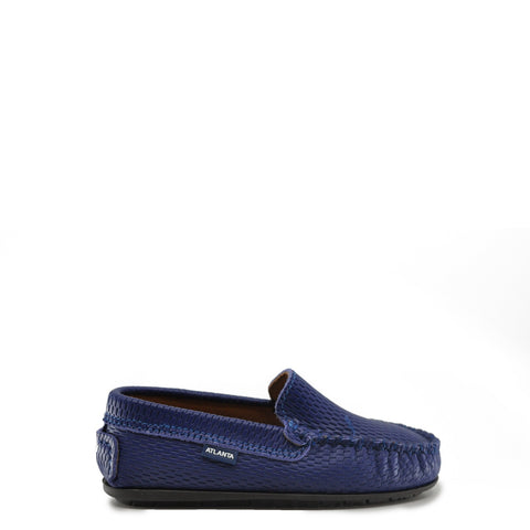 Atlanta Mocassin Royal Blue Textured Loafer-Tassel Children Shoes