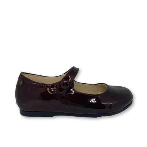 Manuela Burgundy Patent Mary Jane-Tassel Children Shoes