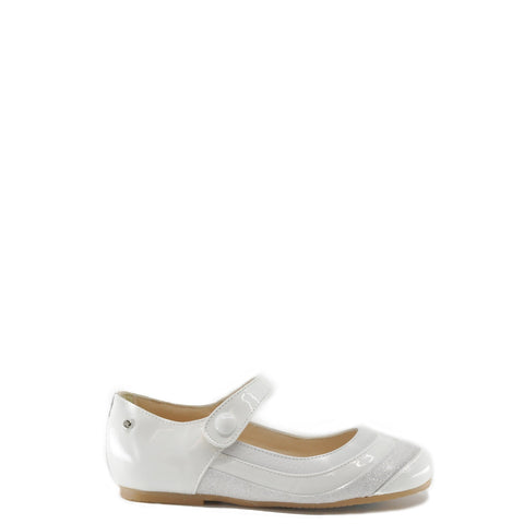 Manuela 3 Tone White Mary Jane-Tassel Children Shoes