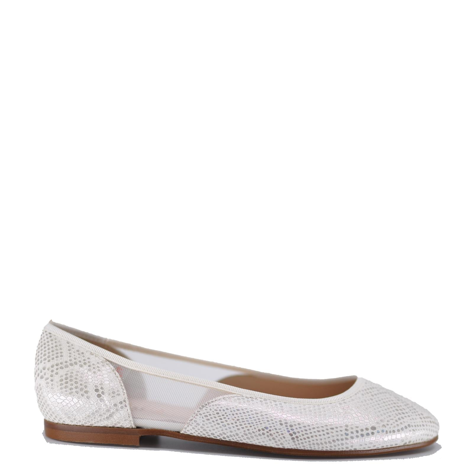 Beberlis White Snakeskin Ballet Flat-Tassel Children Shoes