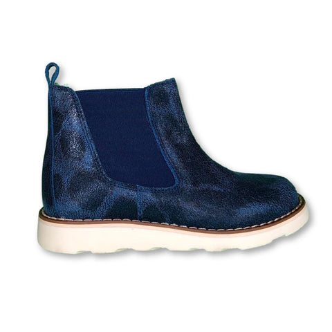 Sonatina Blue Spotted Bootie-Tassel Children Shoes