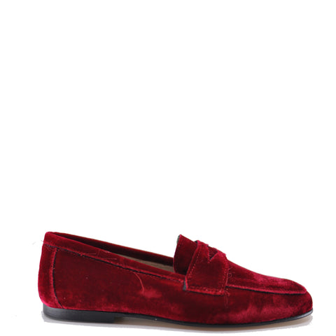 Hoo Red Velvet Penny Loafer-Tassel Children Shoes