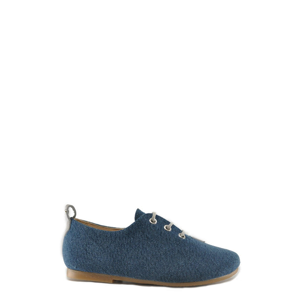 Manuela Sea Canvas Derby-Tassel Children Shoes