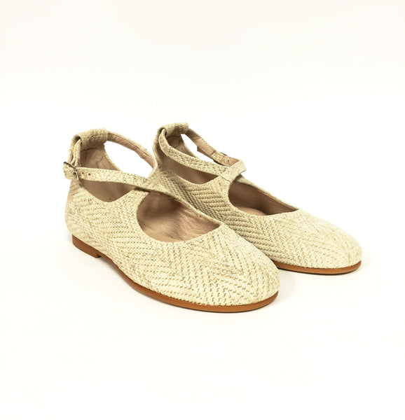 Sonatina Taupe Woven Ankle Shoe-Tassel Children Shoes