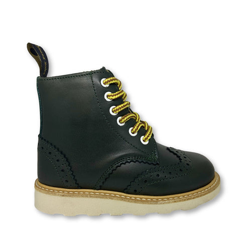 Young Soles Hunter Green Boot-Tassel Children Shoes