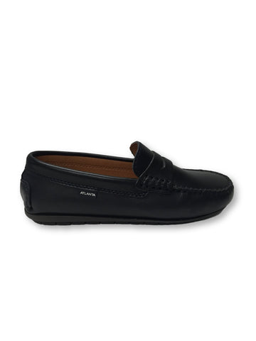 Atlanta Mocassin Navy Penny Loafer-Tassel Children Shoes
