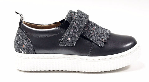 MAA Silver Velcro Sneaker-Tassel Children Shoes