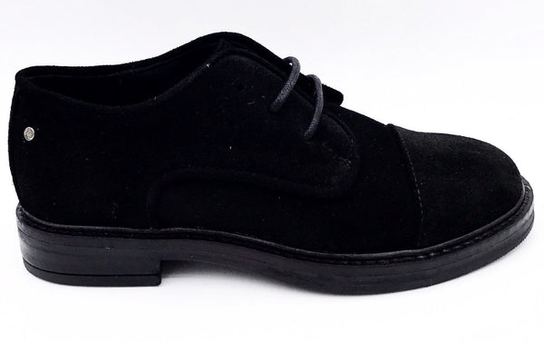 Manuela Black Suede Oxford-Tassel Children Shoes