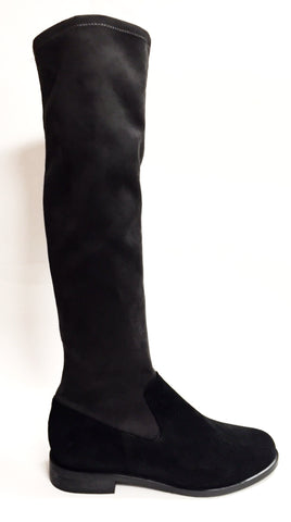 Marian Gray and Black Tall Stretch Boot-Tassel Children Shoes