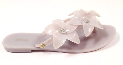 Melissa Beige Flower Flip Flop-Tassel Children Shoes