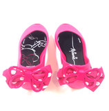 Melissa Hot Pink Minnie Bow Jelly-Tassel Children Shoes