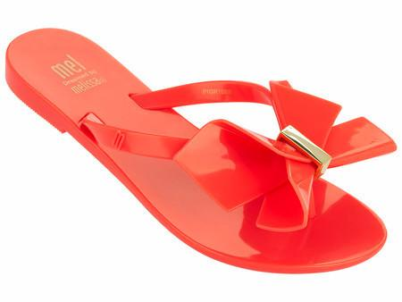 Melissa Neon Orange Flip-Flop-Tassel Children Shoes