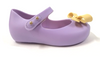 Mini Melissa Lavender and Yellow Bow Jelly-Tassel Children Shoes