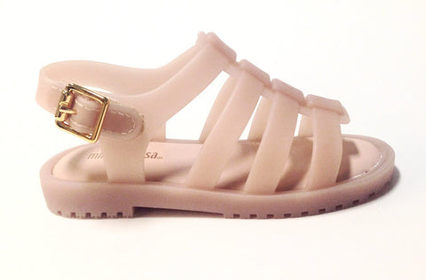 Mini Melissa Light Pink Matte Sandal-Tassel Children Shoes