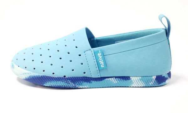 Native Shoes Venice Blue with Marbled Sole-Tassel Children Shoes