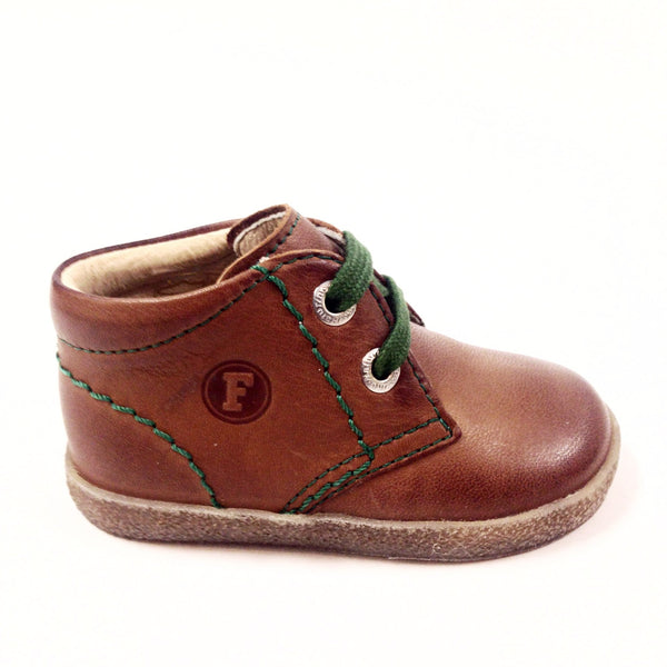 Naturino Cognac and Green Bootie-Tassel Children Shoes