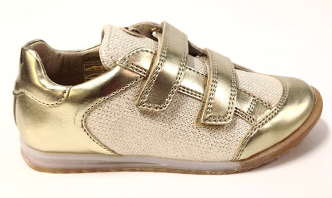 Naturino Gold Double Velcro Sneaker-Tassel Children Shoes