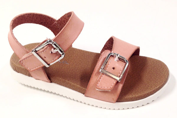 Nina Blush Velcro Sandal-Tassel Children Shoes