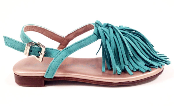Papanatas Aqua Fringe Sandal-Tassel Children Shoes