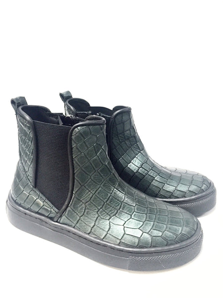 Papanatas Hunter Snake Leather Boot-Tassel Children Shoes