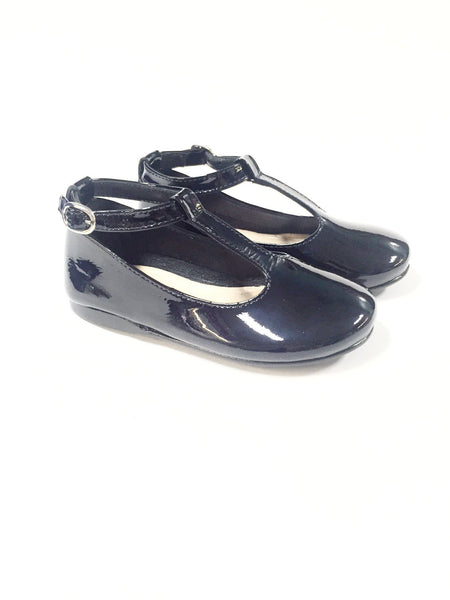 Papanatas Midnight Blue Patent Ankle T-strap-Tassel Children Shoes
