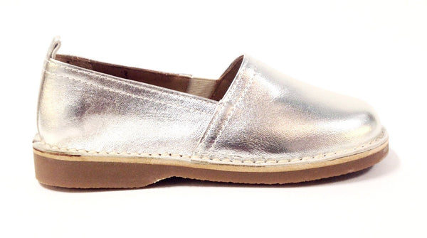 Papanatas Silver Slip-on-Tassel Children Shoes