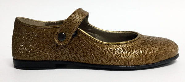 Pepe Gold Mary Jane-Tassel Children Shoes