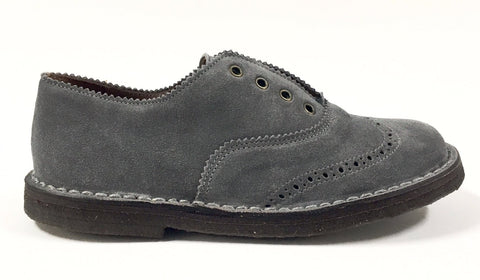 PePe Gray Suede Dress Shoe-Tassel Children Shoes