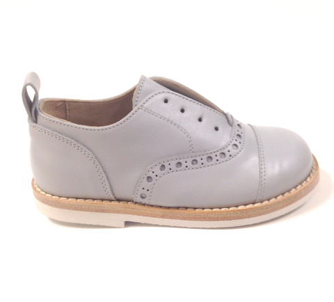 PèPè Light Gray Slip-on Oxford-Tassel Children Shoes