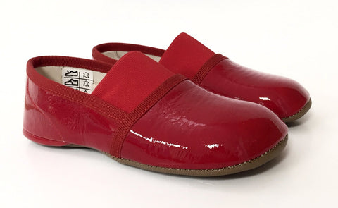 PePe Red Patent Slipper with Elastic-Tassel Children Shoes