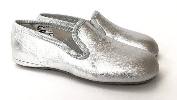 PePe Silver Slipper-Tassel Children Shoes