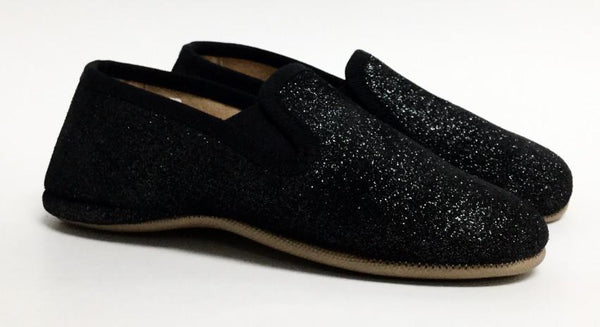 Pepe Sparkly Black Slipper-Tassel Children Shoes