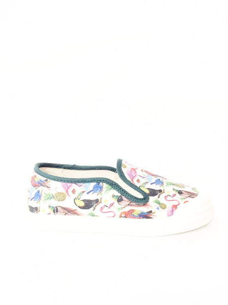 PePe Tropical Print Slip-on Sneaker-Tassel Children Shoes
