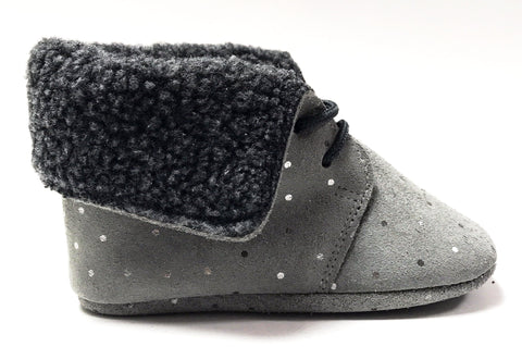 Plumeti Rain Gray Fur Bootie-Tassel Children Shoes