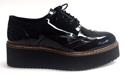 Shellys London Black Platform Oxford-Tassel Children Shoes