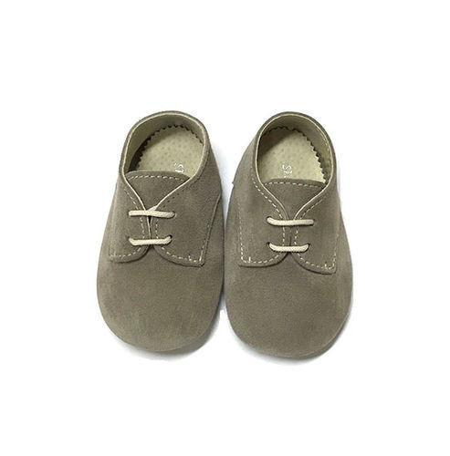 Shoes Le Petit Taupe Lace Pre-walker Shoe-Tassel Children Shoes