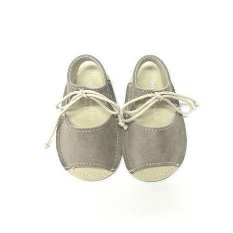Shoes Le Petit Taupe Open Lace Pre-walker Sandal-Tassel Children Shoes