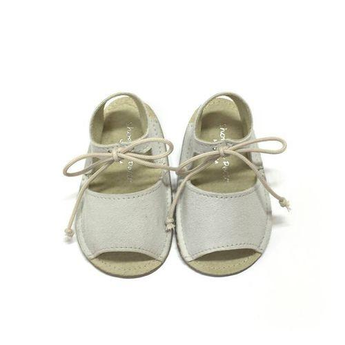 Shoes Le Petit White Open Lace Pre-walker Sandal-Tassel Children Shoes