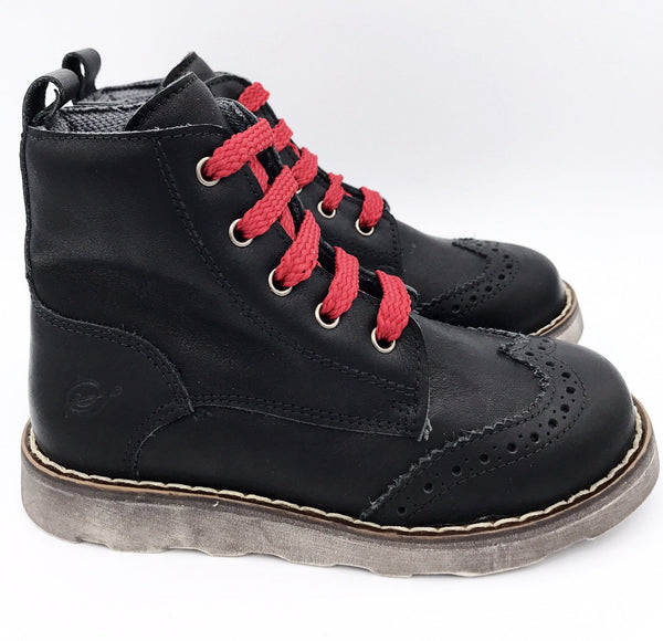 Sonatina Black and Red Dexter Boot-Tassel Children Shoes