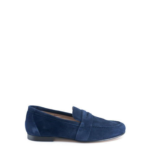 Hoo Navy Suede Penny Loafer-Tassel Children Shoes