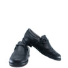 Blublonc Black Pebbled Wingtip Chain Dress Shoe-Tassel Children Shoes