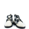 Blublonc Wool Black and White Plaid Lace Up Bootie-Tassel Children Shoes
