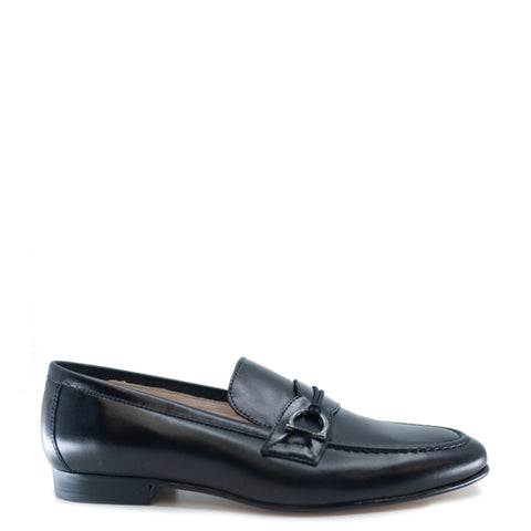 Hoo Black Leather Toggle Dress Shoe-Tassel Children Shoes
