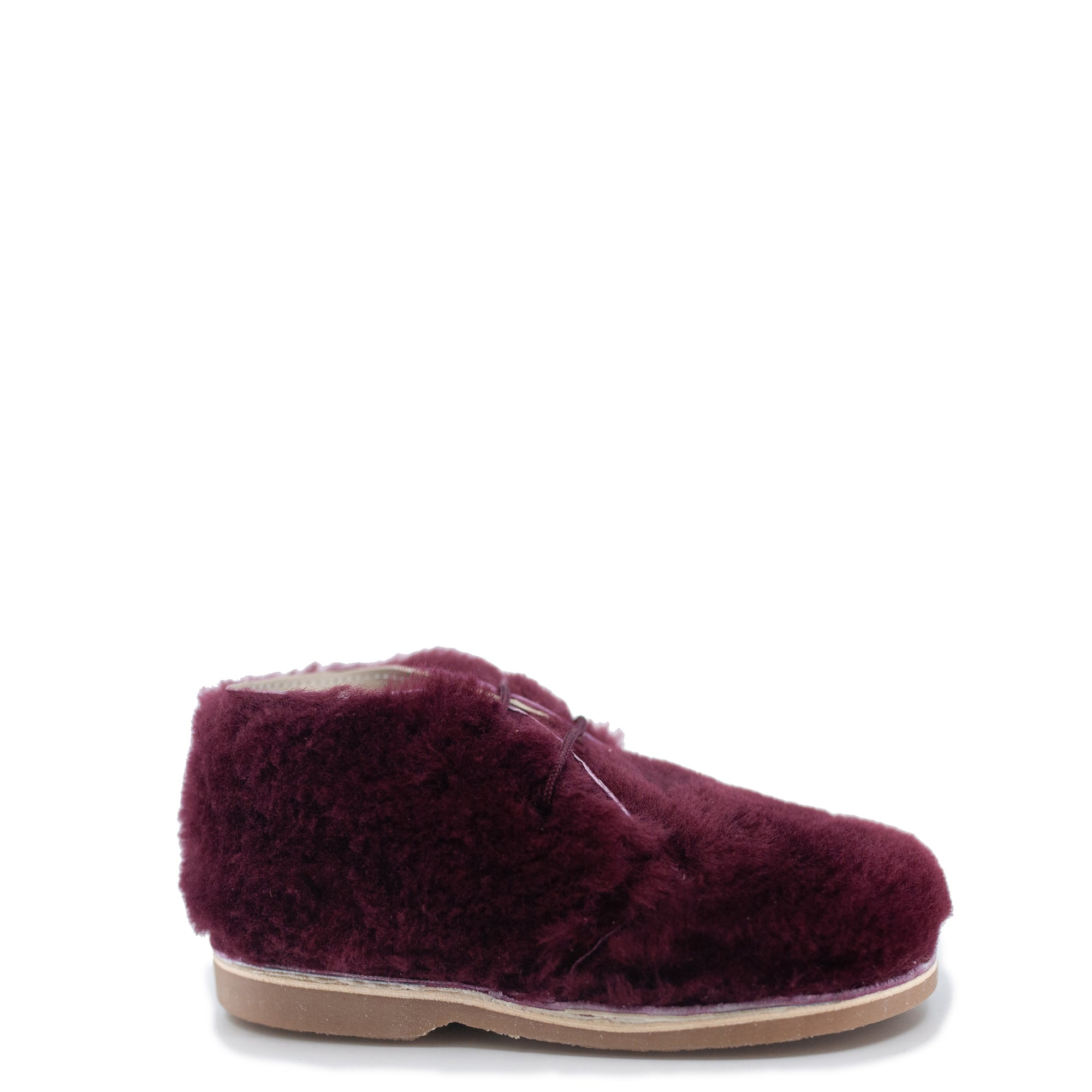 Sonatina Burgundy Teddy Lace Bootie-Tassel Children Shoes